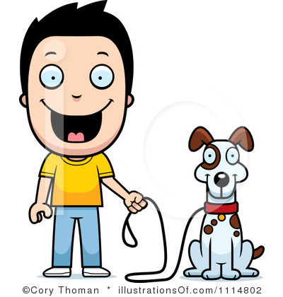 Dog And Owner Clipart.