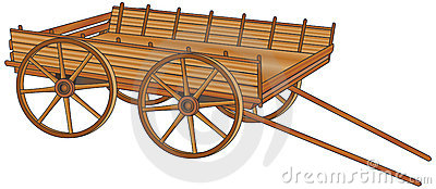Oxcart Royalty Free Stock Photography.