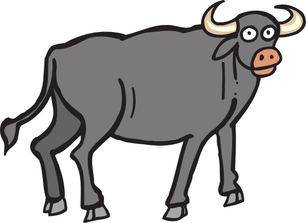 Ox animal clipart.