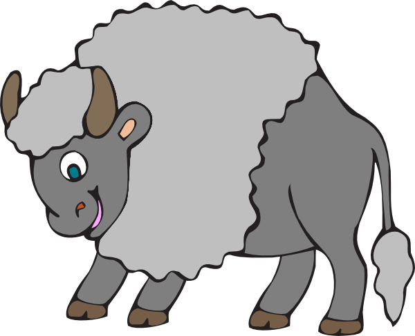 Big Gray Ox Clip Art at Clker.com.
