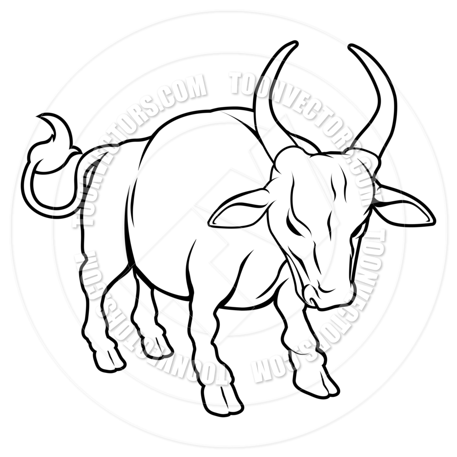 Ox clipart black and white 6 » Clipart Station.