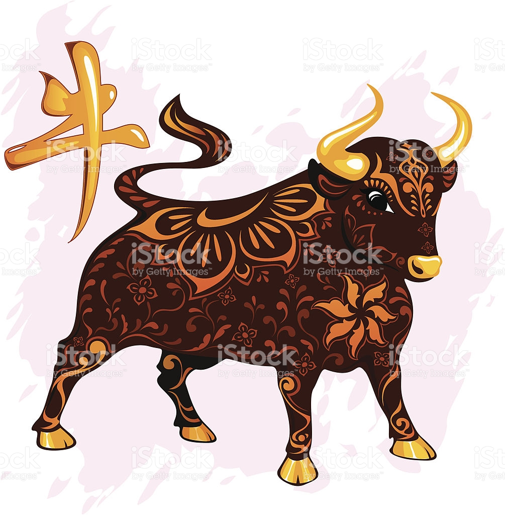 Chinese Year Of The Ox 2009 stock vector art 165628203.