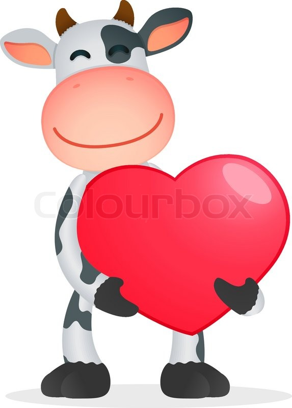 Funny cartoon cow.