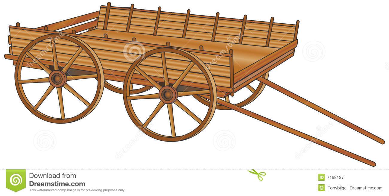 Ox cart clipart.