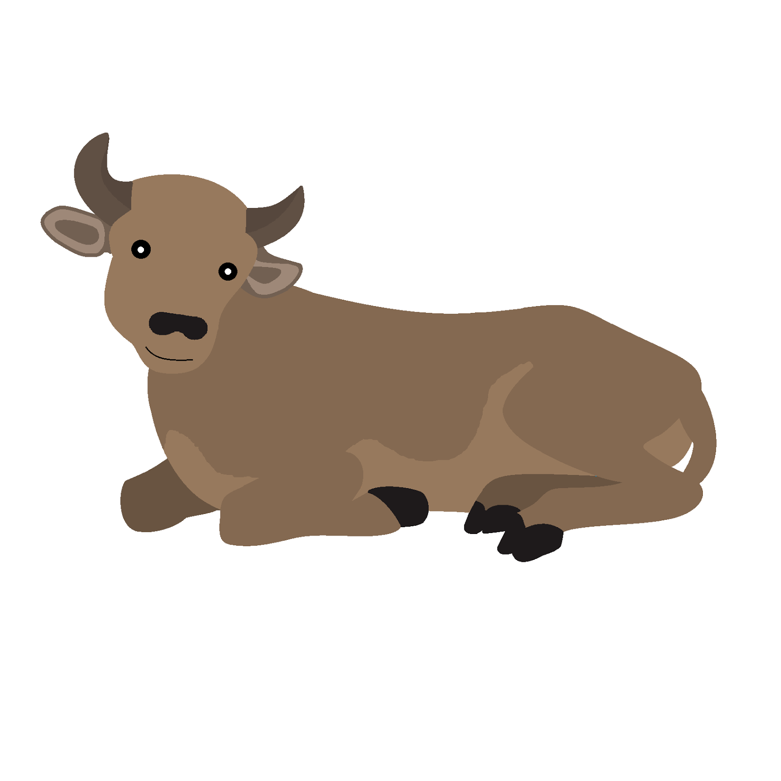 Cattle and oxen stable jesus clipart.