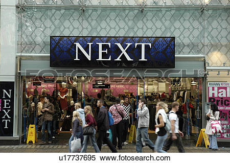 Stock Image of England, London, Oxford Street, Shoppers hurrying.