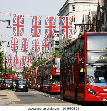 Oxford Street Foto, immagini royalty.