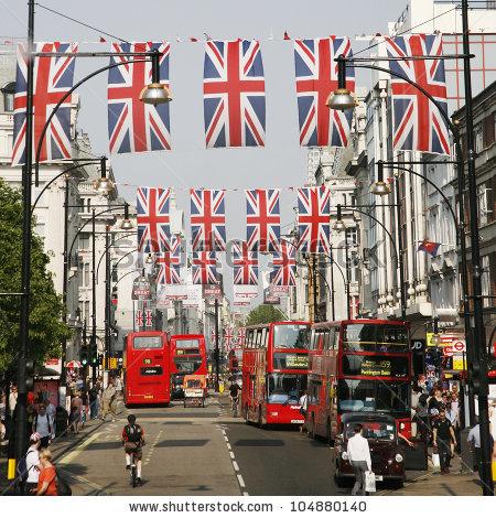 Oxford Street London Stock Photos, Royalty.