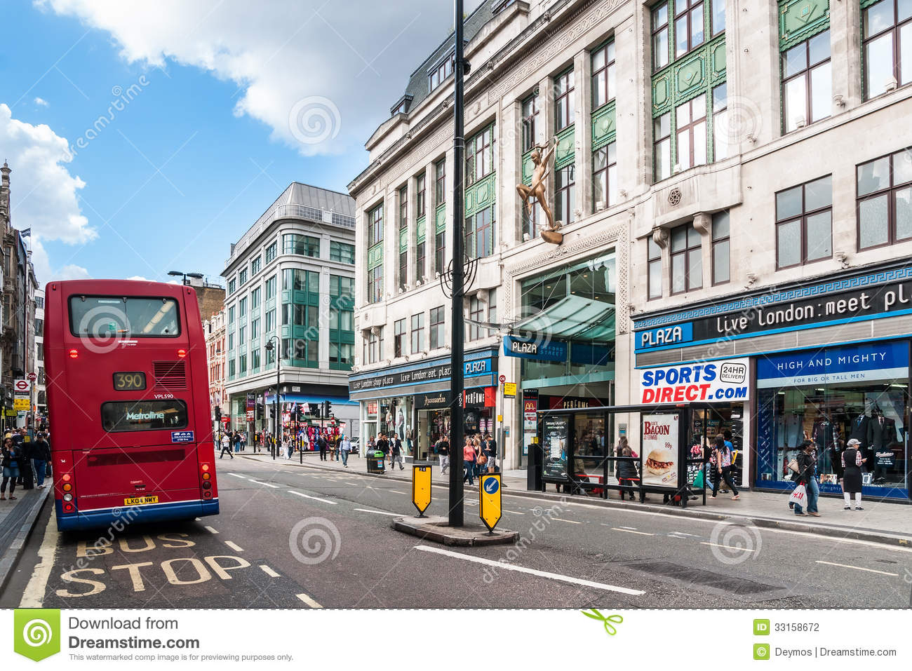 Oxford Street In London, UK Editorial Photography.