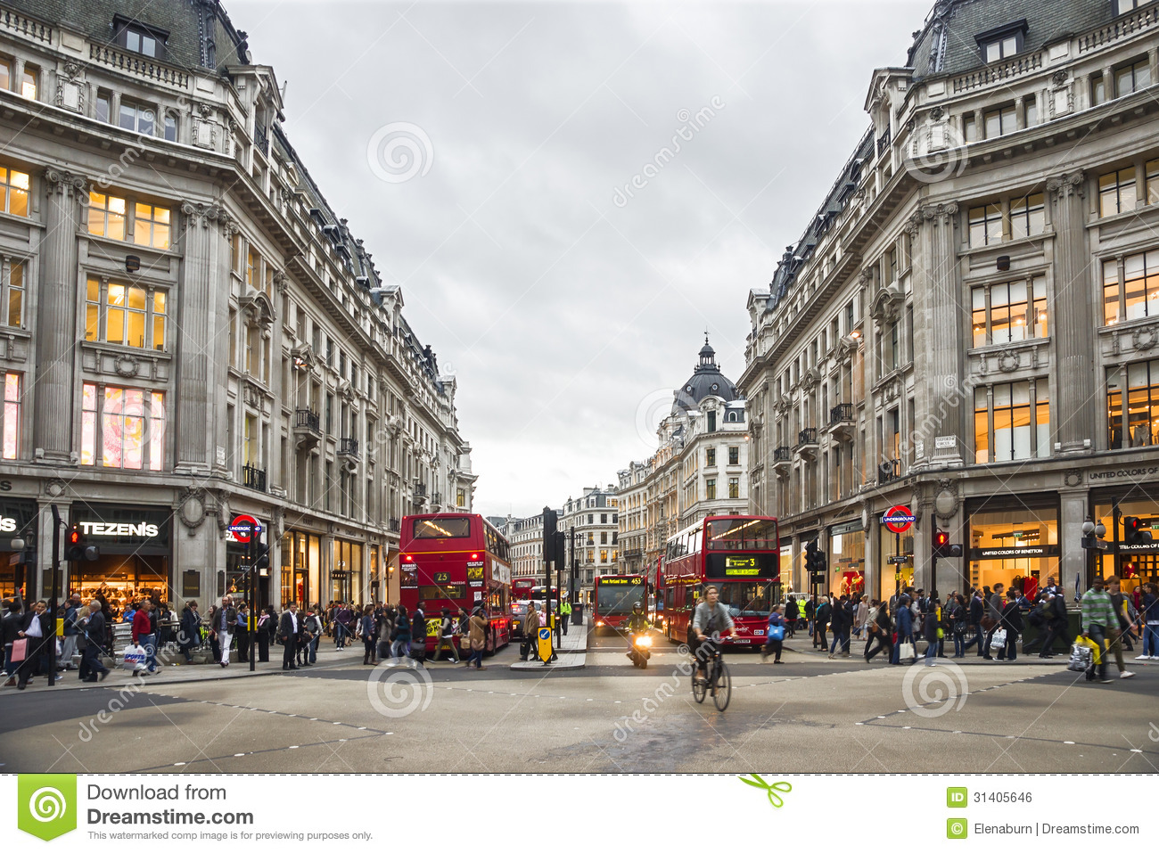 Shopping Time In Oxford Street, London Editorial Photo.