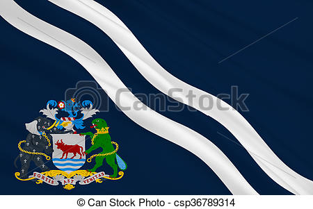 Clipart of Flag of Oxford is a city, England.