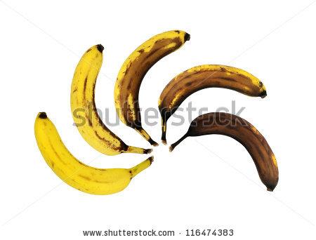 Rotten Banana Stock Images, Royalty.