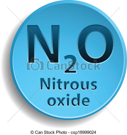 Vector Illustration of Nitrous oxide.