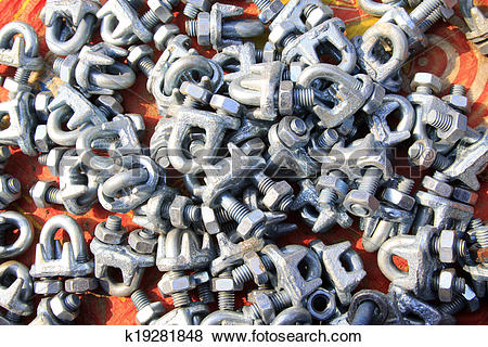 Pictures of oxidize nut fasteners k19281848.