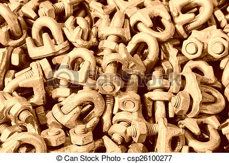 Picture of oxidize nut fasteners piling up in together csp26100277.
