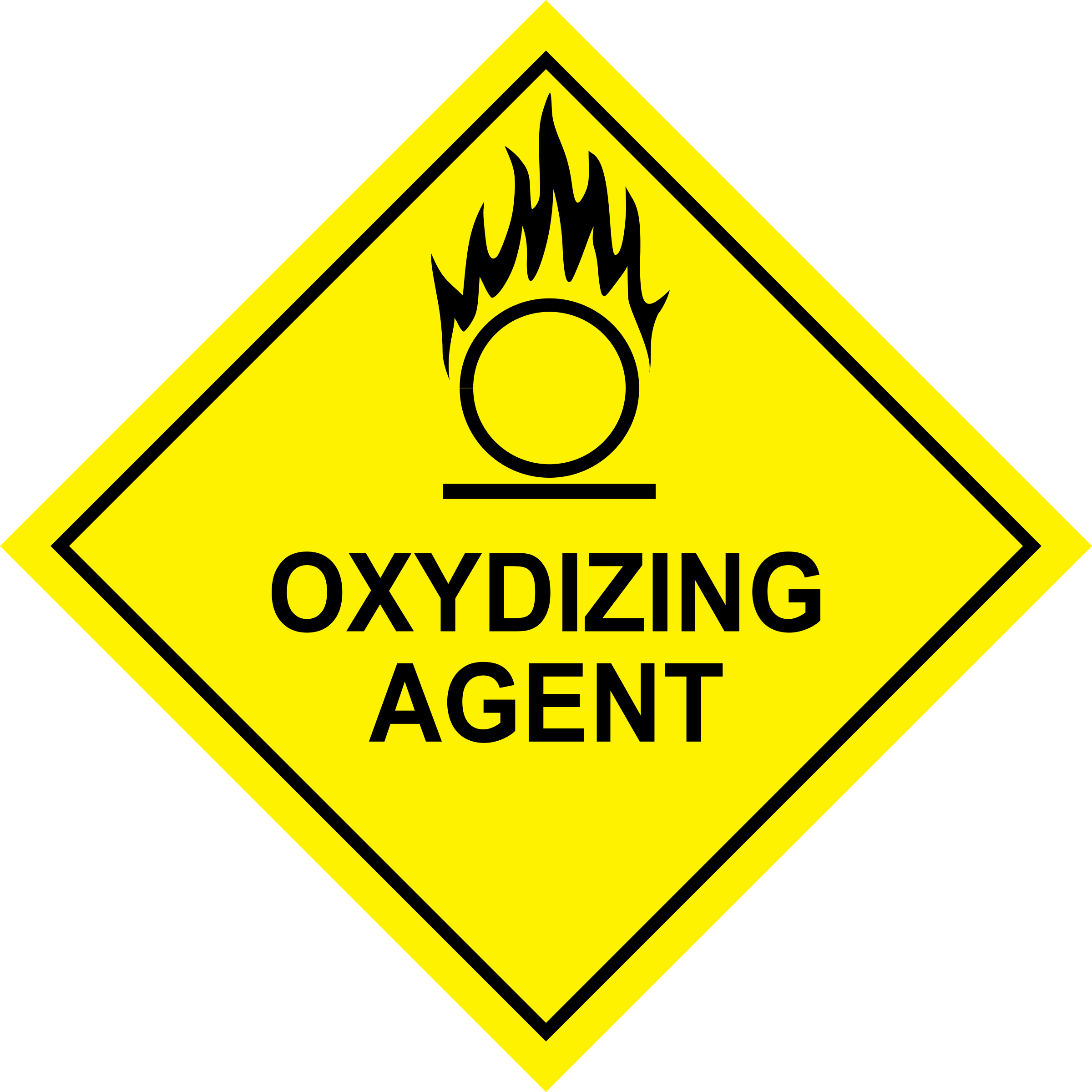 Why is something dangerous if it's an oxidizing agent?.