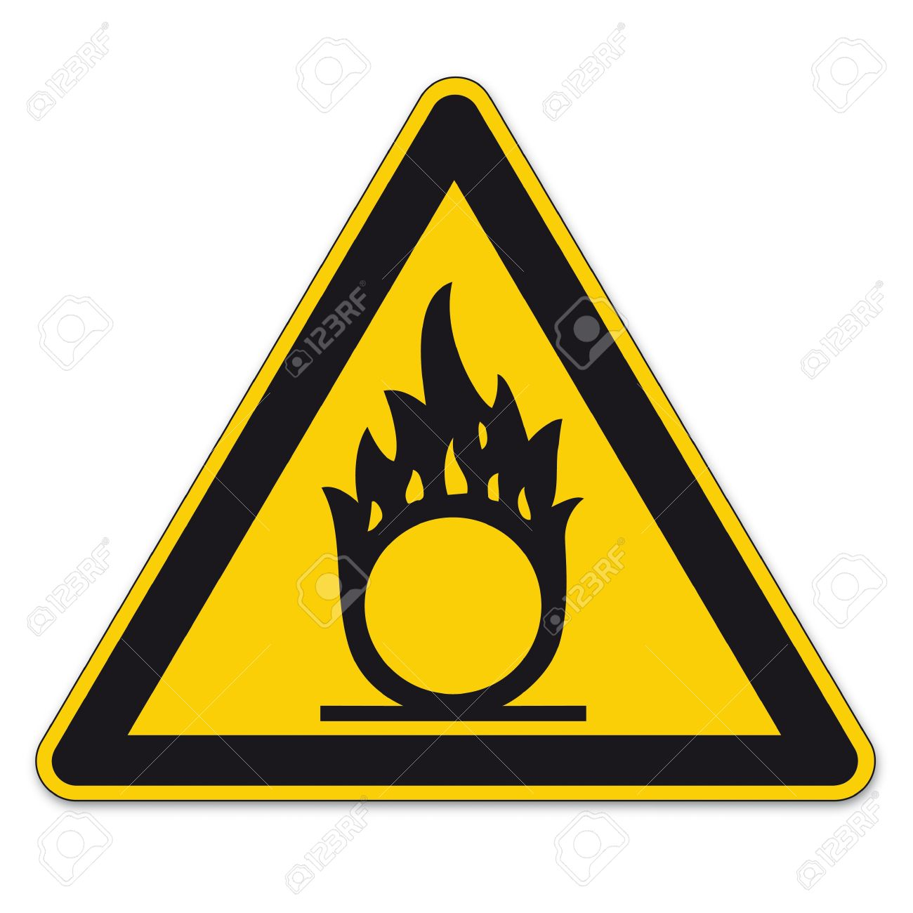Safety Signs Warning Triangle Sign BGV A8 Vector Pictogram Icon.