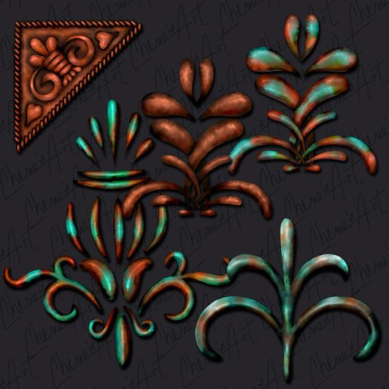 Cherie's Arts 'n Crafts Copper clip art, soon to be listed in my.