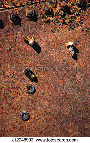 Stock Photo of Oxidized Storage Tank x12048993.
