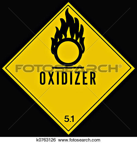 Stock Images of Oxidizer Sign k0763126.