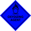 Color Wheel of Oxidizing Agent Sign clipart.