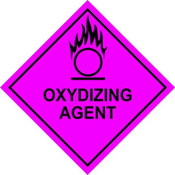 Oxidizing Agent Sign.