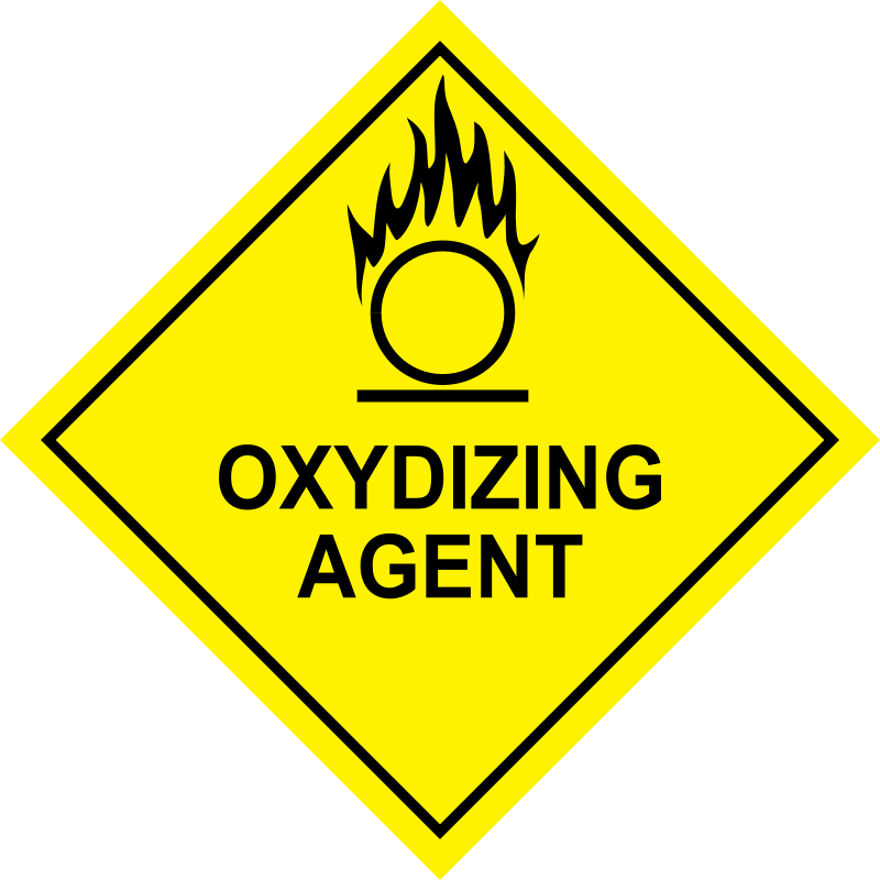 Free Clipart: Oxidizing Agent Sign.