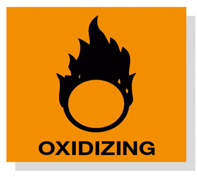 Hazard symbol hazard OXIDIZING SYMBOL 20mm x 20mm from Fisher.