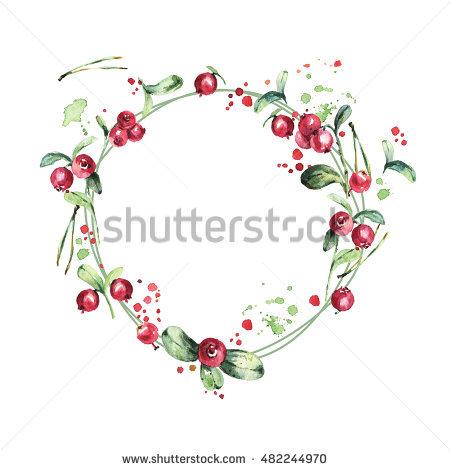 Cranberry Branch Stock Photos, Royalty.