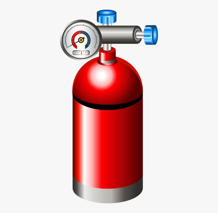 Fire Extinguisher Cartoon Oxygen Tank.