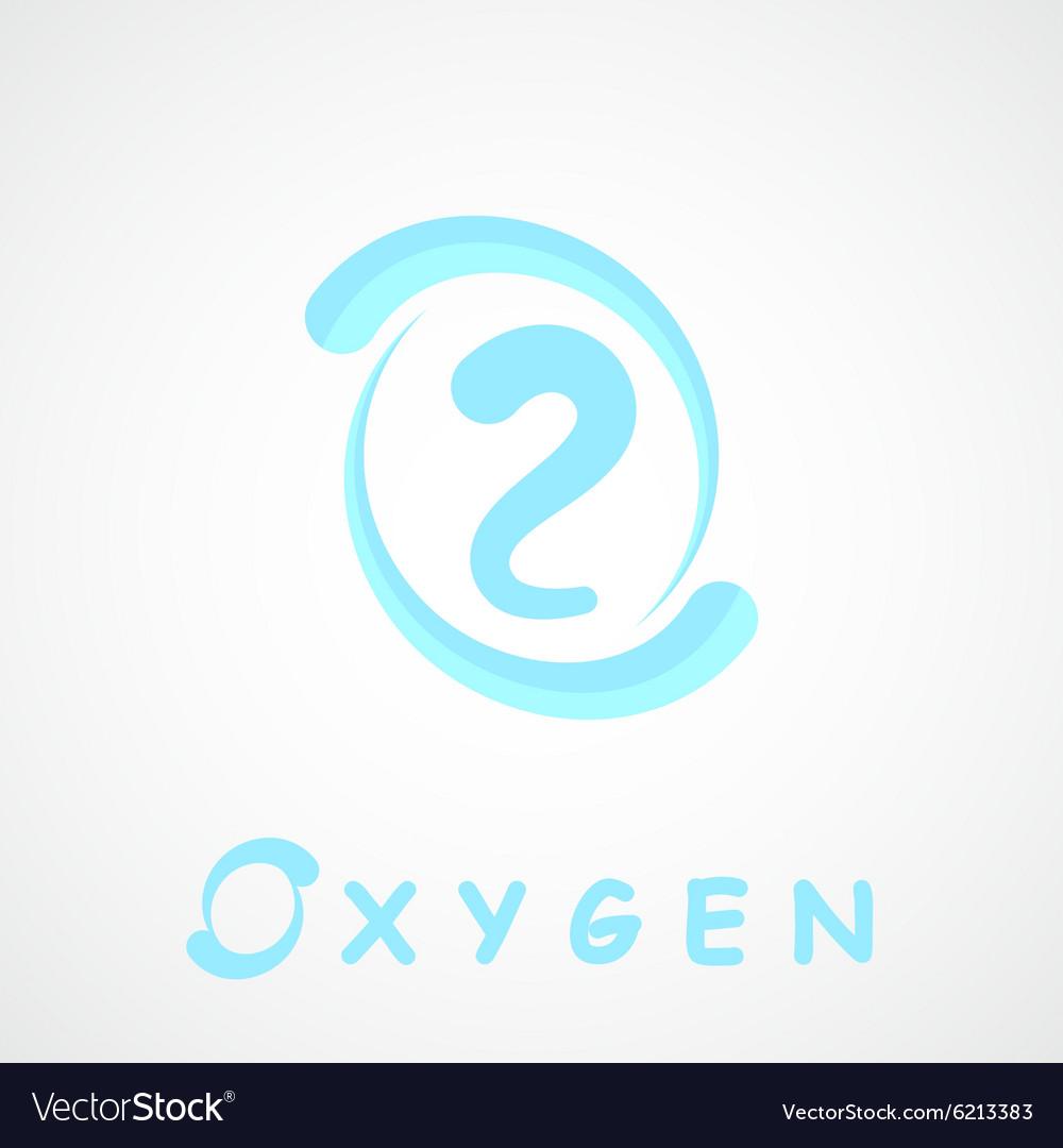 Oxygen logo o2 shape.