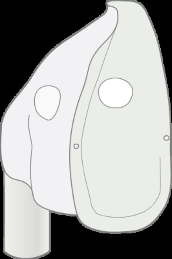 Oxygen mask clipart.