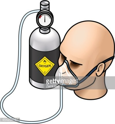 Oxygen Therapy Clipart Image.