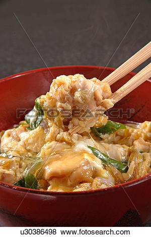 Pictures of Chicken And Egg On Rice u30386498.