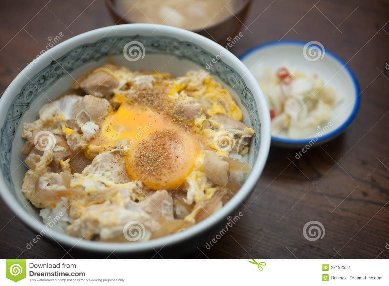 Japanese Cuisine Oyakodon Stock Photography.