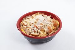 Traditional Oyakodon And Rice In A Bowl. Horizontal Top View Stock.