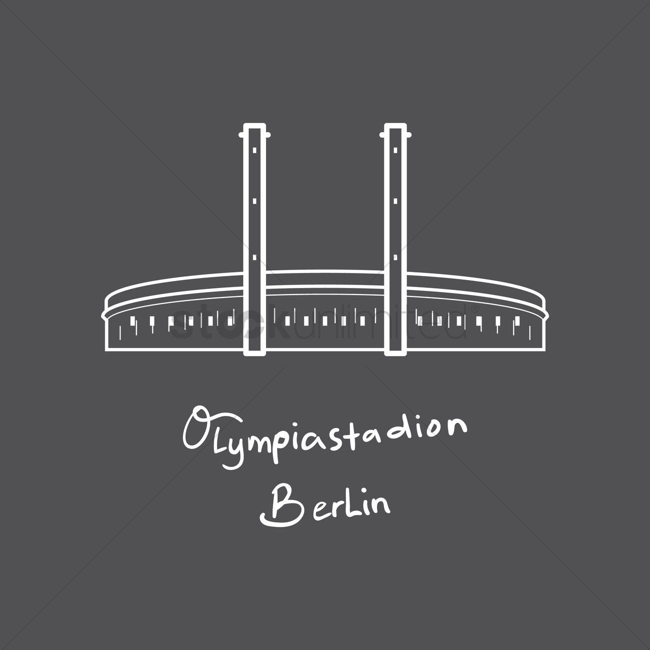Olympiastadion berlin Vector Image.