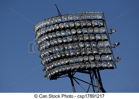 Stock Photography of Floodlight in the Olympiastadion of Munich.