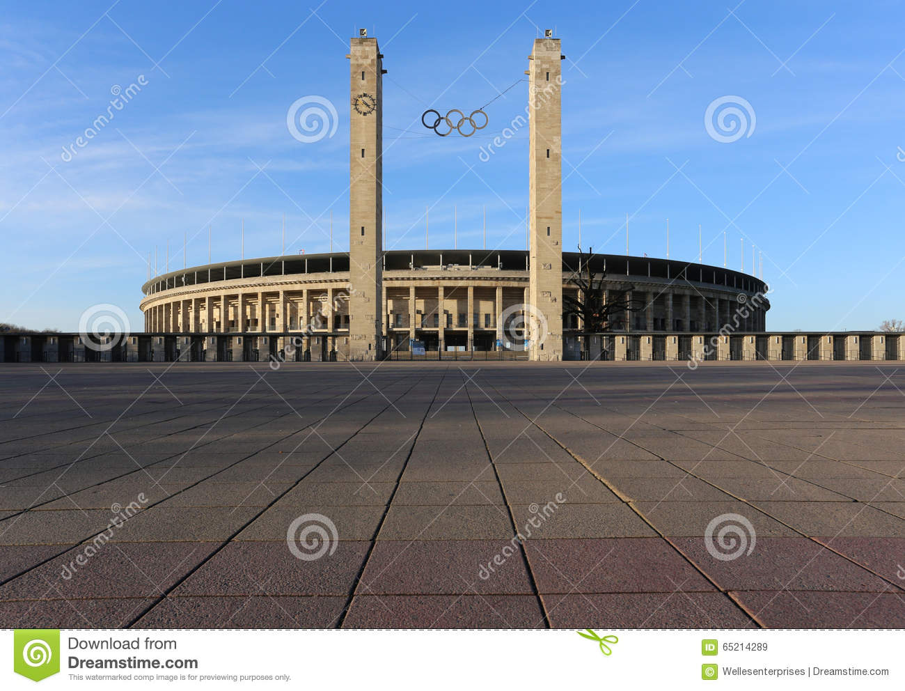Olympiastadion Berlin Editorial Stock Image.