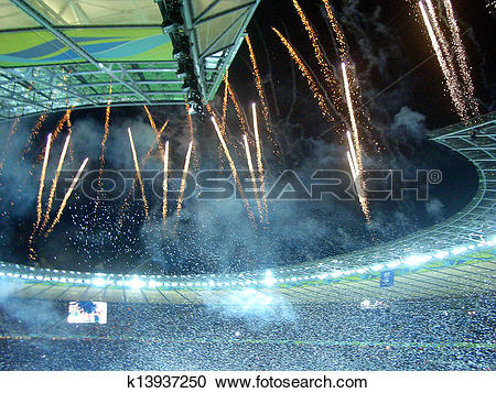 Stock Photography of Victory Celebration at Olympiastadion in.