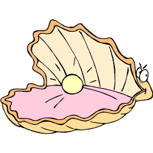 Oyster With Pearl Clipart.