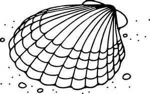 Black and white clip art of a clam and oyster.