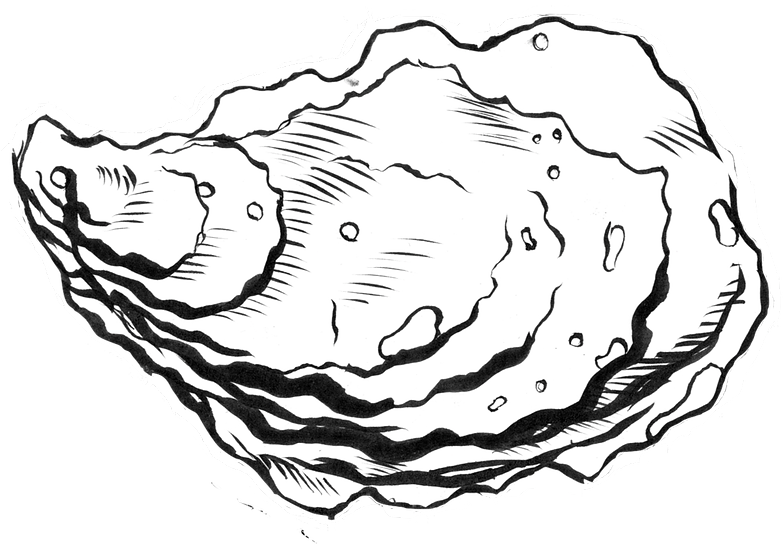 Oyster Clipart Black And White (98+ images in Collection) Page 1.