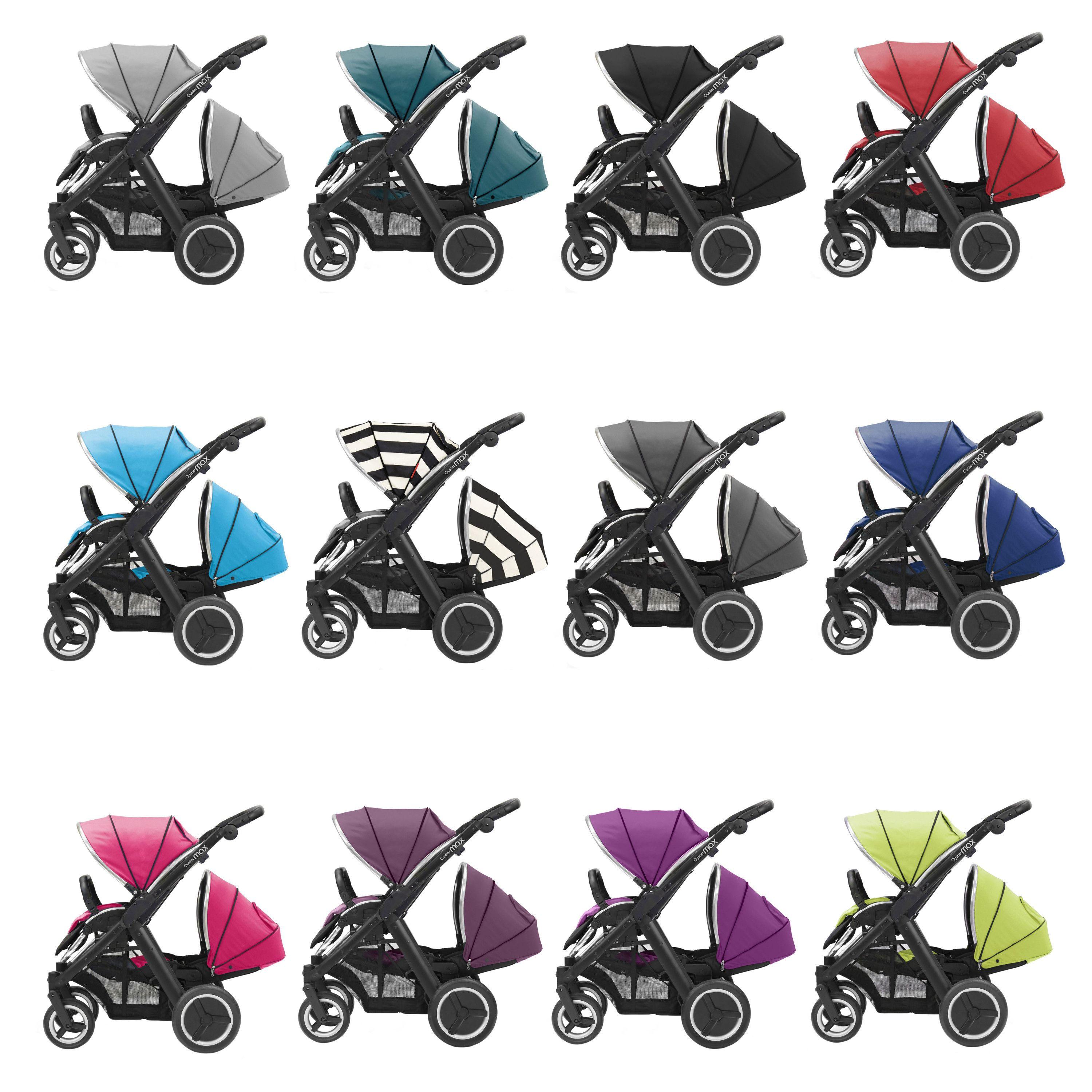 BabyStyle Oyster Max Black Chassis Pushchair / Pram / Buggy With.