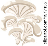 Clipart of a Mushroom and Text.