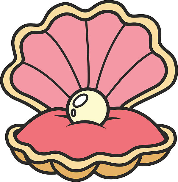 Pearl In Shell Clipart.