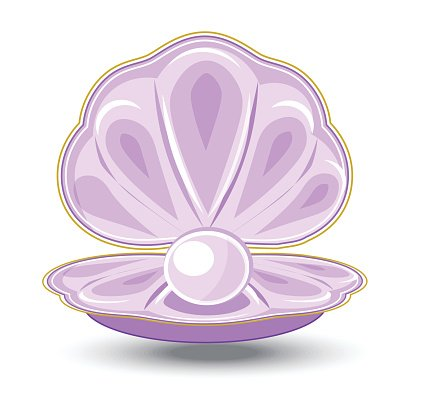 pearl and oyster Clipart Image.