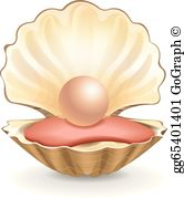 Pearl Oyster Clip Art.
