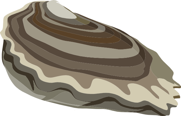 Blue Oysters Clipart.