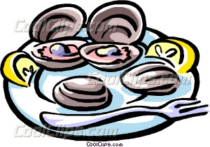 chilled oysters Vector Clip art.